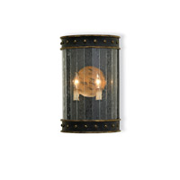 Currey & Company Wharton 2 Light Wall Sconce in Zanzibar Black/Gold 5031