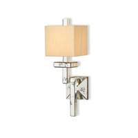 Currey & Company Eclipse 1 Light Wall Sconce in Viejo Silver Leaf 5039