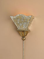 Currey & Company Moontide 1 Light Wall Sconce in Gold Leaf/Majestic Silver Leaf 5043