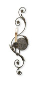 Currey & Company Infinity 1 Light Wall Sconce in Viejo Gold Leaf/ Viejo Silver 5047