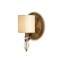 Currey & Company Sebastian 1 Light Wall Sconce in Coffee Bronze 5082