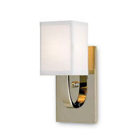 Currey & Company 5084 Sadler 1 Light 5 inch Nickel Wall Sconce Wall Light Lillian August Collection