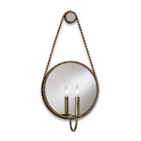 Currey & Company Somerset 1 Light Wall Sconce in Antique Silver Leaf/Gold Leaf 5093