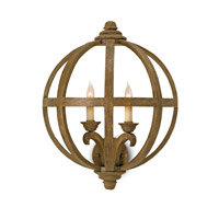 Currey & Company Axel 2 Light Wall Sconce in Chestnut 5095