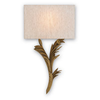Currey & Company Bel Esprit 1 Light Wall Sconce in Antiquity Gold 5097