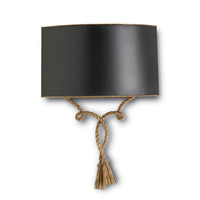Currey & Company Baron 1 Light Wall Sconce in French Gold/Hand Rubbed Gold 5098