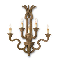 Currey & Company Impresario 5 Light Wall Sconce in Chesnut 5108