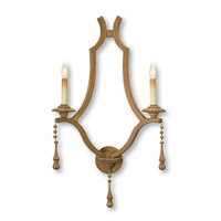 Currey & Company Simplicity 2 Light Wall Sconce in Washed Wood 5109