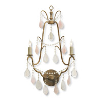 Currey & Company Fairytale 2 Light Wall Sconce in Italian Gold Leaf 5115
