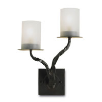 Currey & Company Javier 2 Light Wall Sconce (Left) in Old Iron 5123