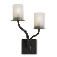 Currey & Company Javier 2 Light Wall Sconce (Right) in Old Iron 5124