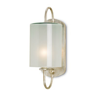Currey & Company Glacier 1 Light Wall Sconce in Silver Leaf 5129