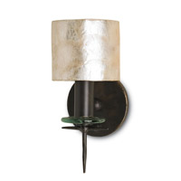 Currey & Company Theta 1 Light Wall Sconce in Bronze Gold and Natural 5135