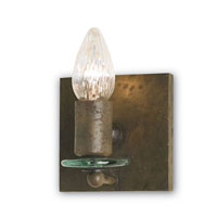 Currey & Company Zeta 1 Light Wall Sconce in Shirley Rust 5136