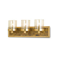 Currey & Company Parlay 3 Light Wall Sconce in Contemporary Gold Leaf and Black Penshell Crackle 5145
