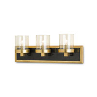 Currey & Company Parlay 3 Light Wall Sconce in Contemporary Gold Leaf and Tiger Penshell Crackle 5146