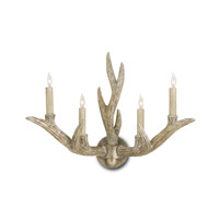 Currey & Company Haywood 4 Light Wall Sconce in Silver Granello 5147