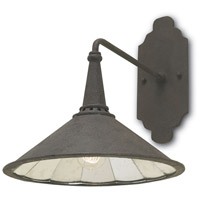 Currey & Company 5151 Manuscript 1 Light 14 inch Molé Black/Antique Mirror Wall Sconce Wall Light