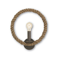 Bowline 1 Light 14 inch Rust/Natural Wall Sconce Wall Light