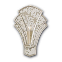 Currey & Company Calais 1 Light Wall Sconce in Contemporary Silver Leaf and Antique Mirror 5162