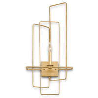 Currey & Company Metro 1 Light Wall Sconce in Contemporary Gold Leaf 5163