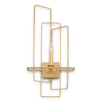 Currey & Company Metro 1 Light Wall Sconce in Contemporary Gold Leaf 5164