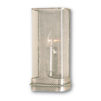 Currey & Company Havenridge 1 Light Wall Sconce in Oxidized Silver  5165