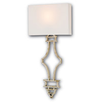 Currey & Company Eternity 1 Light Wall Sconce in Silver Granello 5173