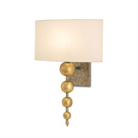 Currey & Company Stillman 1 Light Wall Sconce in Antique Gold Leaf and Pyrite Bronze 5175