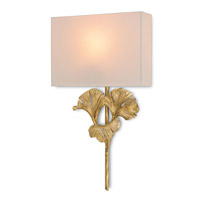 Currey & Company Gingko 1 Light Wall Sconce in Chinois Antique Gold Leaf 5178