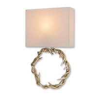Currey & Company Buckley 1 Light Wall Sconce in Chinois Silver Granello 5179