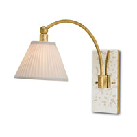 Currey & Company Guidhall 1 Light Wall Sconce in Dutch Gold and Antique Mirror 5189