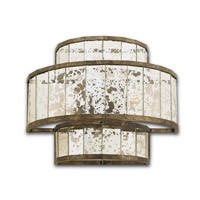 Currey & Company Fantine 2 Light Wall Sconce in Pyrite Bronze and Raj Mirror 5193