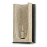 Currey & Company Rowland 1 Light Wall Sconce in Aged Steel and Portland 5208