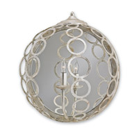 Currey & Company Tartufo 1 Light Wall Sconce in Silver Granello 5209