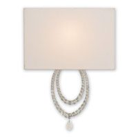 Currey & Company Esperanza 1 Light Wall Sconce in Silver Granello 5210