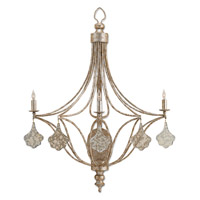 Currey & Company Lavinia 3 Light Wall Sconce in Grecian Silver Leaf and Antique Mercury 5225
