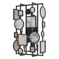 Currey & Company Gallerist 4 Light Wall Sconce in Blacksmith and Raj 5229
