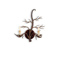 Currey & Company Treetop 2 Light Wall Sconce in Old Iron 5307