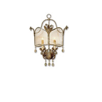 Currey & Company Zara 2 Light Wall Sconce in Viejo Gold/Silver 5357