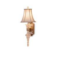 Currey & Company Maralago 1 Light Wall Sconce in Silver Granello/Gold 5415