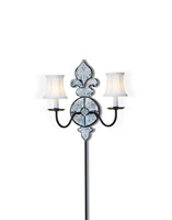 Currey & Company Medici 2 Light Wall Sconce in Venetian Mirror 5450