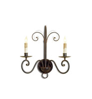 Currey & Company Double 2 Light Wall Sconce in Old Iron 5519