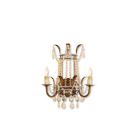 Currey & Company Laureate 2 Light Wall Sconce in Rhine Gold 5543