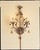 Currey & Company Isabella 2 Light Wall Sconce in Rhine Gold 5556 photo thumbnail