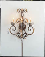 Currey & Company Arabesque 3 Light Wall Sconce in Venetian/Gold Leaf 5568
