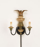 Currey & Company Naples 2 Light Wall Sconce in Hand Painted Multi-Color 5642 photo thumbnail
