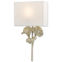 Gingko 1 Light 14 inch Distressed Silver Leaf ADA Wall Sconce Wall Light