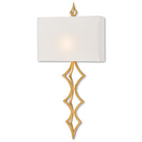 Pendulum LED 7 inch Contemporary Gold Leaf and White Linen ADA Wall Sconce Wall Light