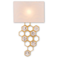 Mielleux 1 Light 16 inch Contemporary Gold Leaf and Raj Mirror Wall Sconce Wall Light, Left